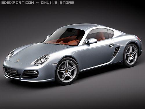 Porsche Cayman S 2010 3D Model