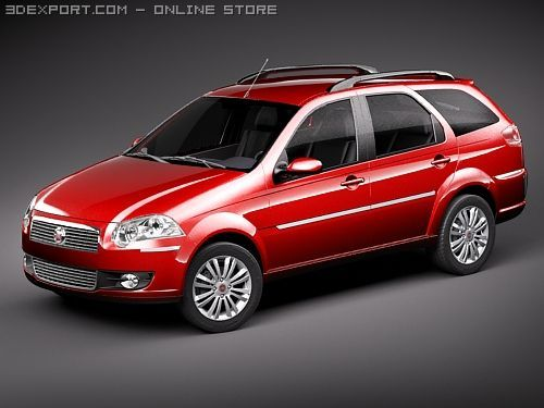 Fiat New Palio 2009 Weekend 3D Model