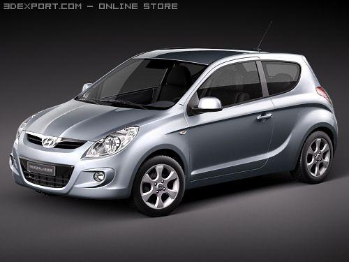 Hyundai i20 3door 3D Model