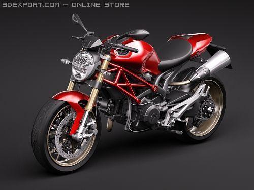 Ducati Monster 1100s 3D Model
