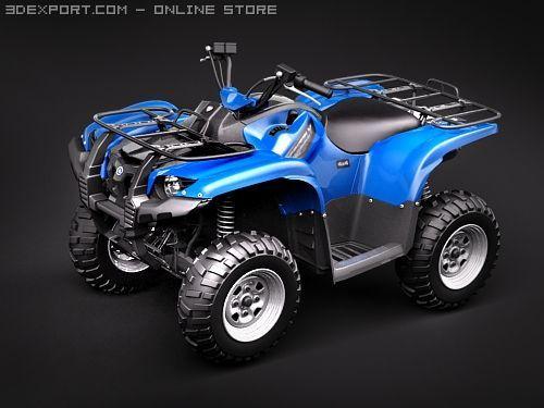 Yamaha Grizzly 700FI 3D Model