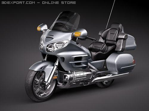 Honda Goldwing 3D Model