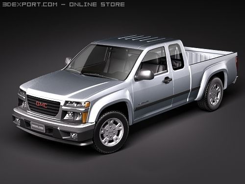 GMC Canyon extended cab 3D Model