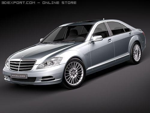 MercedesBenz SClass 2010 3D Model