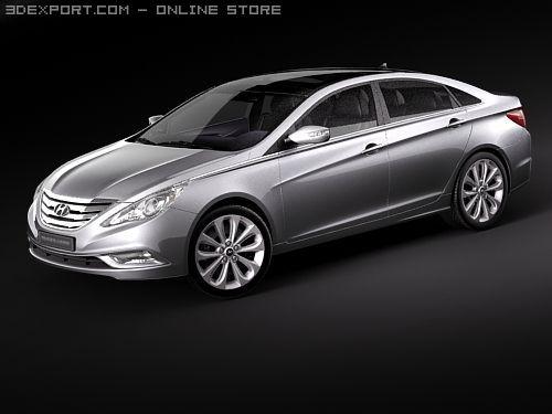 Hyundai  YF  SONATA  I40  2010 3D Model