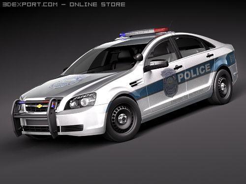 Chevrolet Caprice  Impala Police Patrol Vehicle 3D Model