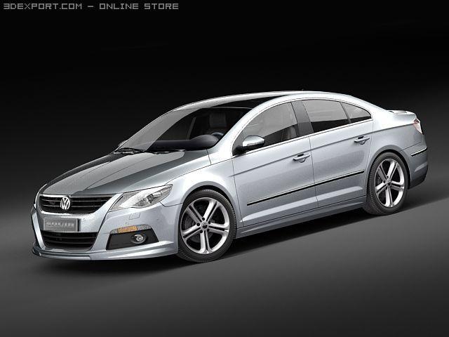Volkswagen Passat CC RLine 2010 3D Model