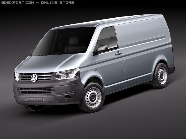VW Transporter T5 2010 3D Model