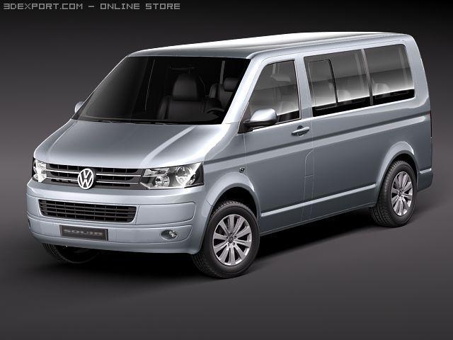 Volkswagen Caravelle Multivan T5 2010 3D Model