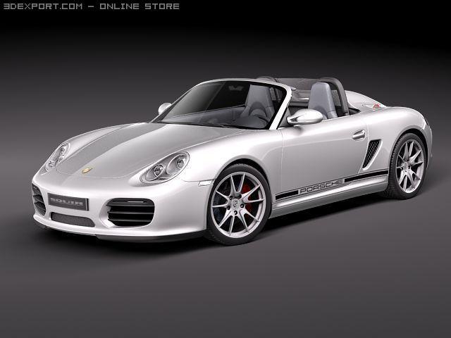 Porsche Boxster Spyder 2010 3D Model