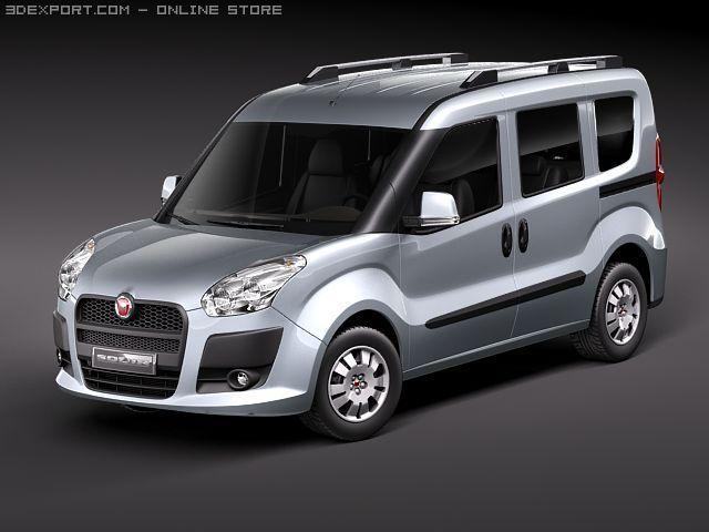 Fiat Doblo 2010 3D Model
