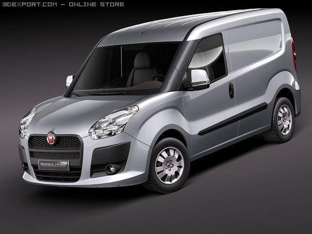 Fiat Doblo Cargo 2010 3D Model