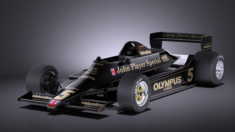 Lotus 79 grand prix 1978 VRAY 3D Model in Racing 3DExport