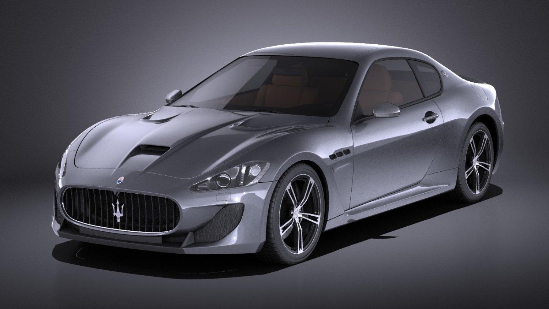 Maserati Granturismo Mc Stradale 2016 Vray Model