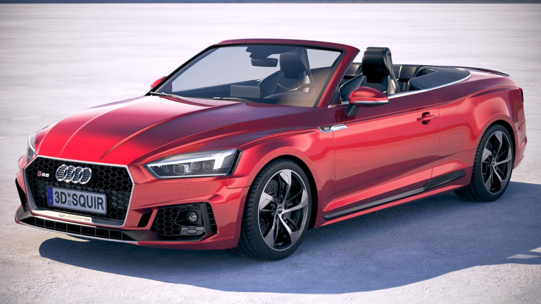 Audi RS5 Cabriolet 5 5D Model in Sport Cars 5DExport