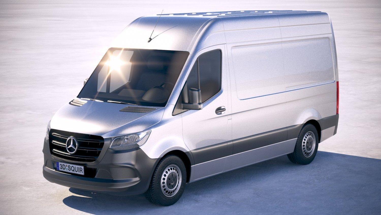 Mercedes-Benz Sprinter Standard 2019 3D Model in Van and Minivan 3DExport