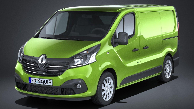 95185ccc5f Renault Trafic Cargo 2015-2018 3D Model in Van and Minivan 3DExport