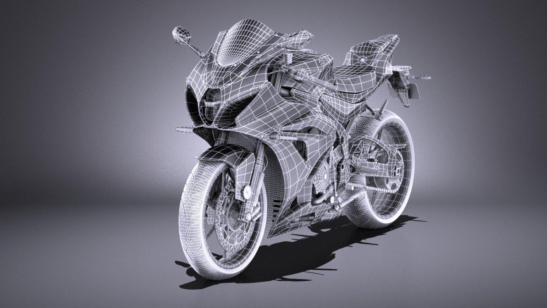Suzuki GSX-R1000 2017 VRAY 3D Model in Motorcycle 3DExport