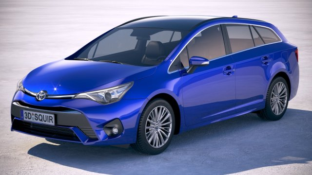 Toyota Avensis Touring Sports 2018 3D Model in Wagon 3DExport