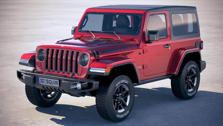 Jeep Jk Soft Top >> Jeep Wrangler Rubicon Softtop 2019 3d Model In Suv 3dexport