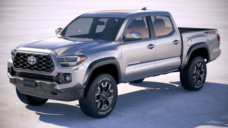 Toyota Tacoma TRD 2020 3D Model in Truck 3DExport