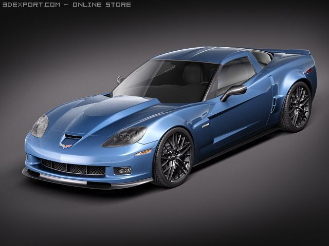 Chevrolet Corvette z06 carbon 2010 3D Model