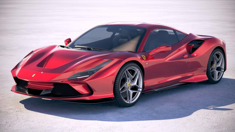 ferrari f8 tributo 2020 3d-modell in sportwagen 3dexport