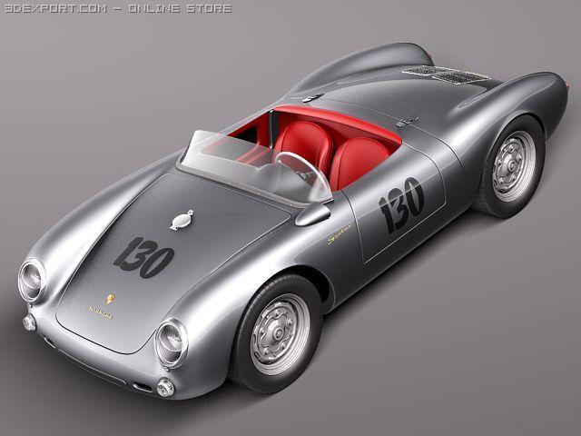 Porsche Spyder 550 1955 3D Model