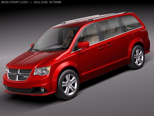 Dodge Grand Caravan 2011 3D Model