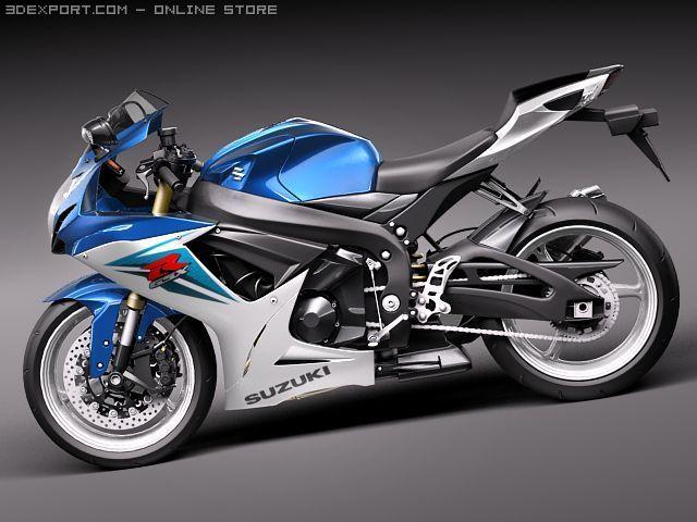 Suzuki GSXR 600 2011 3D Model