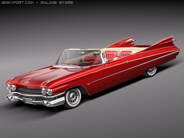 Cadillac Eldorado 62 series 1959 convertible midpo 3D Model