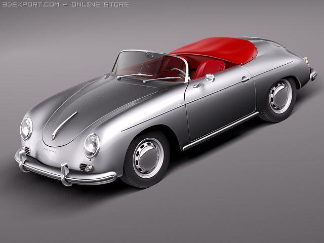 Porsche 356A Speedster 1955 3D Model
