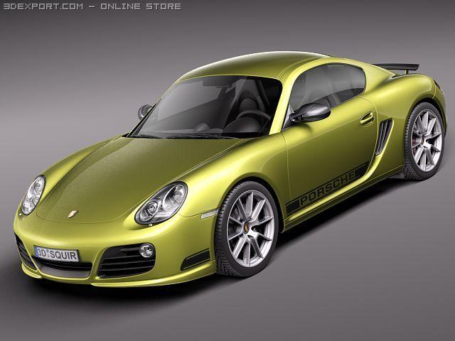 Porsche Cayman R 2011 3D Model