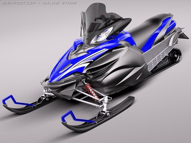 Yamaha Apex Snowmobile 3D Model