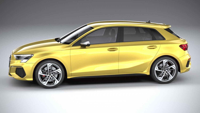 Audi S3 2021 Modèle 3D in Voitures compactes 3DExport
