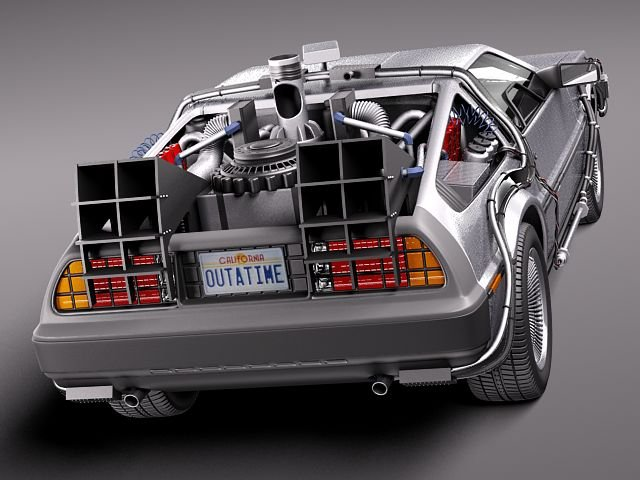 DeLorean DMC12 Back To The Future 3D Model