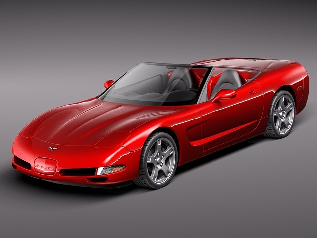 Chevrolet Corvette C5 Convertible 3D Model