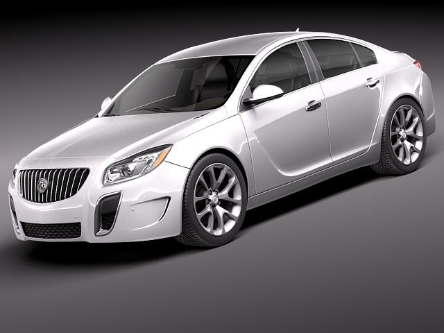 Buick Regal GS 2012 3D Model