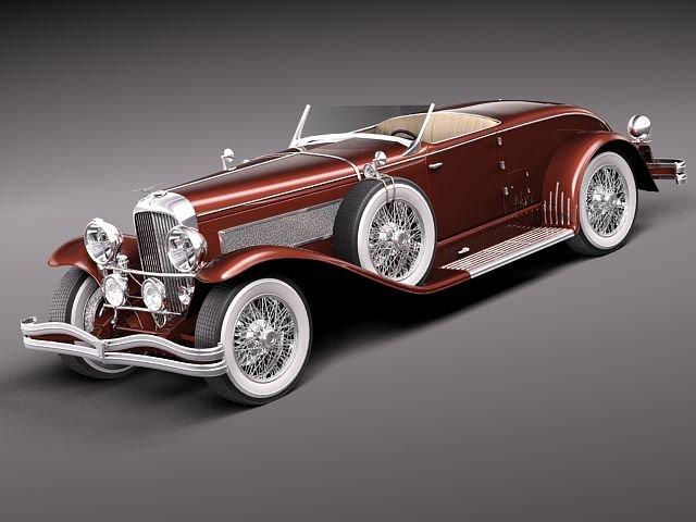 Duesenberg SJ Roadster 1935 3D Model
