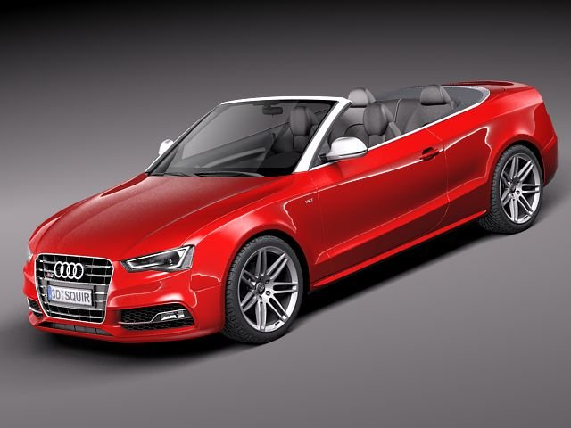 Audi S5 Convertible 2012 3D Model