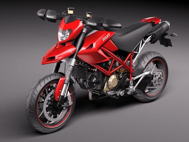 Ducati Hypermotard 1100 EVO 2011 3D Model