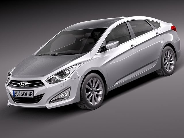 Hyundai I40 Sonata 2012 sedan 3D Model