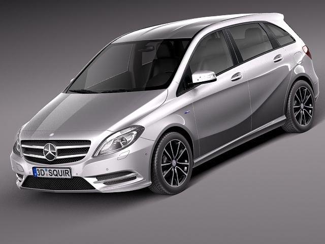 MercedesBenz BClass 2012 3D Model