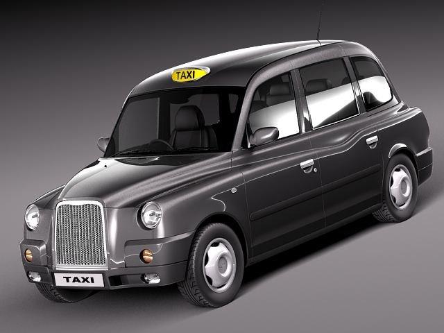 London Taxi TX4 3D Model