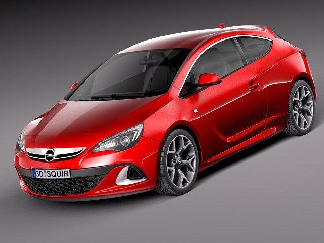 Opel Astra OPC 2013 3D Model