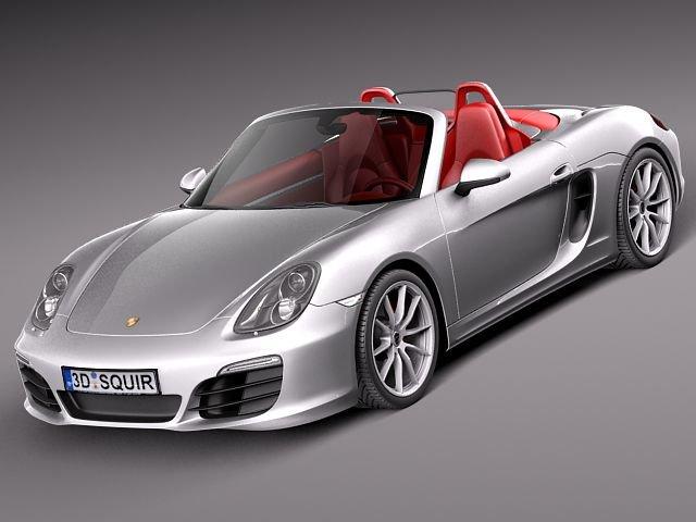 Porsche Boxster S 2013 3D Model