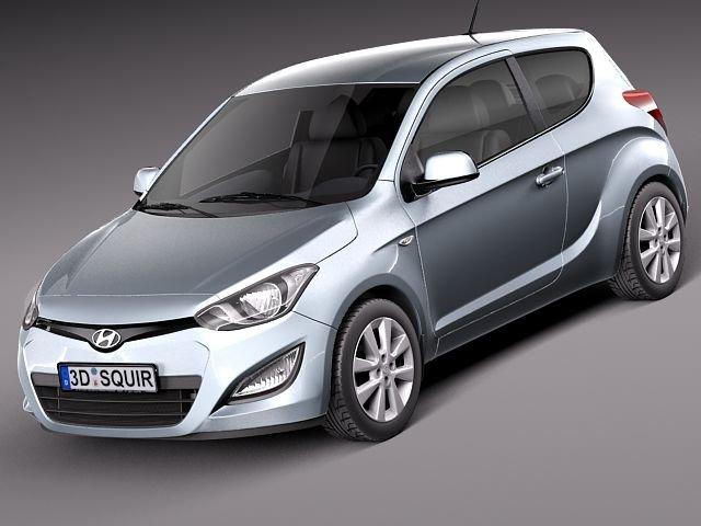 Hyundai I20 3door 2013 3D Model