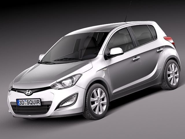 Hyundai I20 5door 2013 3D Model