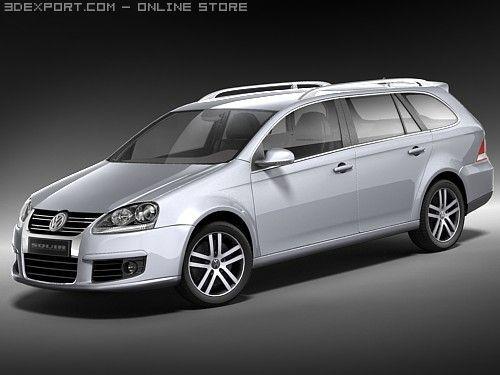 Volkswagen Golf V variant 3D Model