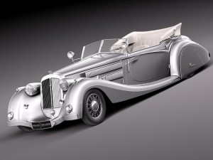 Horch 853a voll  ruhrbeck sport cabriolet 1937